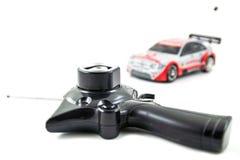 Regulador y Toy Car del coche del juguete RC Fotografía de archivo