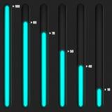 Reguladores con el fondo retroiluminado azul con textura Imagenes de archivo