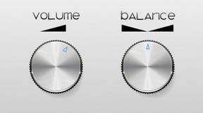Reguladores de los sonidos. Fotografía de archivo libre de regalías
