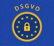 Regulamento de DSGVO Foto de Stock