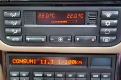 Regulamento do condicionador de ar do carro Imagens de Stock