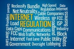 Regulamento do Internet Fotografia de Stock Royalty Free
