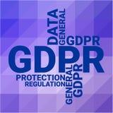 Regulamento geral da proteção de dados Conceito de GDPR, ilustração do vetor ilustração stock