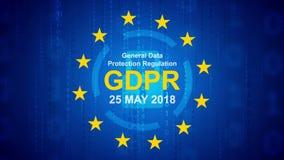 Regulamento geral da proteção de dados - fundo de GDPR ilustração stock