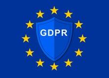 Regulamento geral GDPR da proteção de dados fotografia de stock