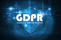 Regulamento geral GDPR da proteção de dados foto de stock