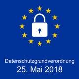 Regulamento geral novo da proteção de dados de EUÂ Imagem de Stock