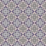Regular abstract seamless pattern. Seamless geometric pattern abstract with floral design Royalty Free Stock Photography