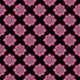 Regular abstract seamless pattern. Seamless geometric pattern abstract with floral design Royalty Free Stock Photos