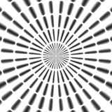 Regular black and white radial rays pattern made seamless Stock Photography
