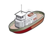 Regular Boat Icon. Design Elements 41m Royalty Free Stock Photography