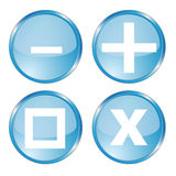 Regular buttons. Commonly used button icons  illustration Royalty Free Stock Image