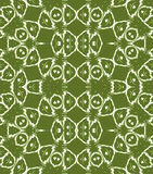 Regular circles and ellipses pattern olive green white Royalty Free Stock Photos
