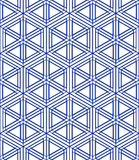 Regular colorful endless pattern with intertwine three-dimension Stock Photography