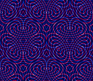 Regular colorful endless pattern with intertwine three-dimension Royalty Free Stock Photography