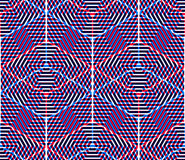 Regular colorful endless pattern with intertwine three-dimension Royalty Free Stock Image