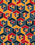 Regular colorful textured endless pattern with cubes, continuous Stock Images