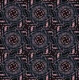 Regular concentric circles pattern pink gray dark green brown black. Abstract geometric background. Regular concentric circles pattern pink, gray, dark green royalty free illustration