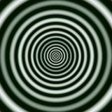 Regular concentric Rings in Monochrome. Digital abstract image with a concentric circle design in black and white. Stock Image