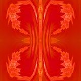 Regular conspicuous ornament red orange ocher Stock Photo