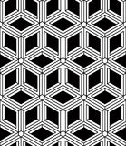 Regular contrast endless pattern with intertwine 3d Royalty Free Stock Photos