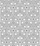 Regular contrast endless pattern with intertwine three-dimension Stock Photography