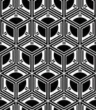 Regular contrast endless pattern with intertwine three-dimension Stock Photo