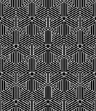 Regular contrast endless pattern with intertwine three-dimension Royalty Free Stock Image