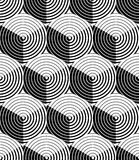 Regular contrast endless pattern with intertwine three-dimension Royalty Free Stock Photography