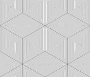 Regular contrast endless pattern with intertwine three-dimension Royalty Free Stock Images