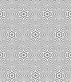 Regular contrast endless pattern with intertwine three-dimension Stock Images