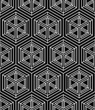Regular contrast endless pattern with intertwine three-dimension Royalty Free Stock Photo