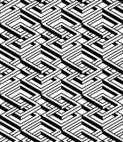 Regular contrast endless pattern with intertwine three-dimension Royalty Free Stock Photos