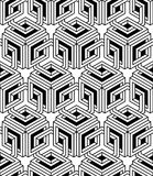 Regular contrast endless pattern with intertwine three-dimension Stock Photos