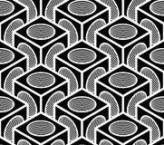 Regular contrast endless pattern, intertwine three-dimensional Royalty Free Stock Photo