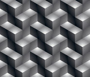 Regular contrast textured endless pattern with three-dimensional Stock Image