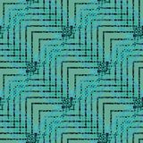 Regular delicate zigzag pattern green light blue turquoise gray and black diagonally. Abstract geometric seamless background. Regular delicate zigzag pattern Royalty Free Stock Images