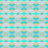 Regular ellipses and diamond pattern pink turquoise blue orange Stock Images