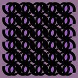 Regular ellipses ornaments black and purple framed Stock Image
