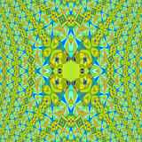 Regular ellipses pattern lemon lime green orange blue centered dimensional Royalty Free Stock Images