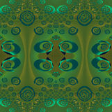 Regular ellipses and spirals pattern green brown gray turquoise Royalty Free Stock Images