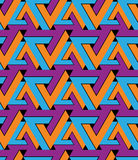 Regular extraordinary geometric seamless pattern with stylized t. Riangles. Vivid continuous texture decoration, best for graphic and web design. Saturated Royalty Free Stock Photo
