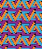 Regular extraordinary geometric seamless pattern with stylized t Royalty Free Stock Photo