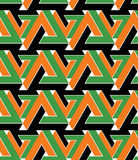 Regular extraordinary geometric seamless pattern Royalty Free Stock Photos