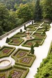 The regular garden at Ksiaz Castle in Walbrzych city, Poland Stock Image