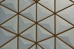 Regular hexagon background Stock Image