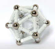 A regular icosahedron. On the studio table Stock Photo