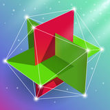 Regular icosahedron Royalty Free Stock Image