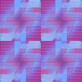 Regular intricate diamond and squares pattern red violet purple Stock Photo