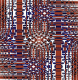 Regular intricate mosaic pattern brown purple gray white shifted Royalty Free Stock Photography